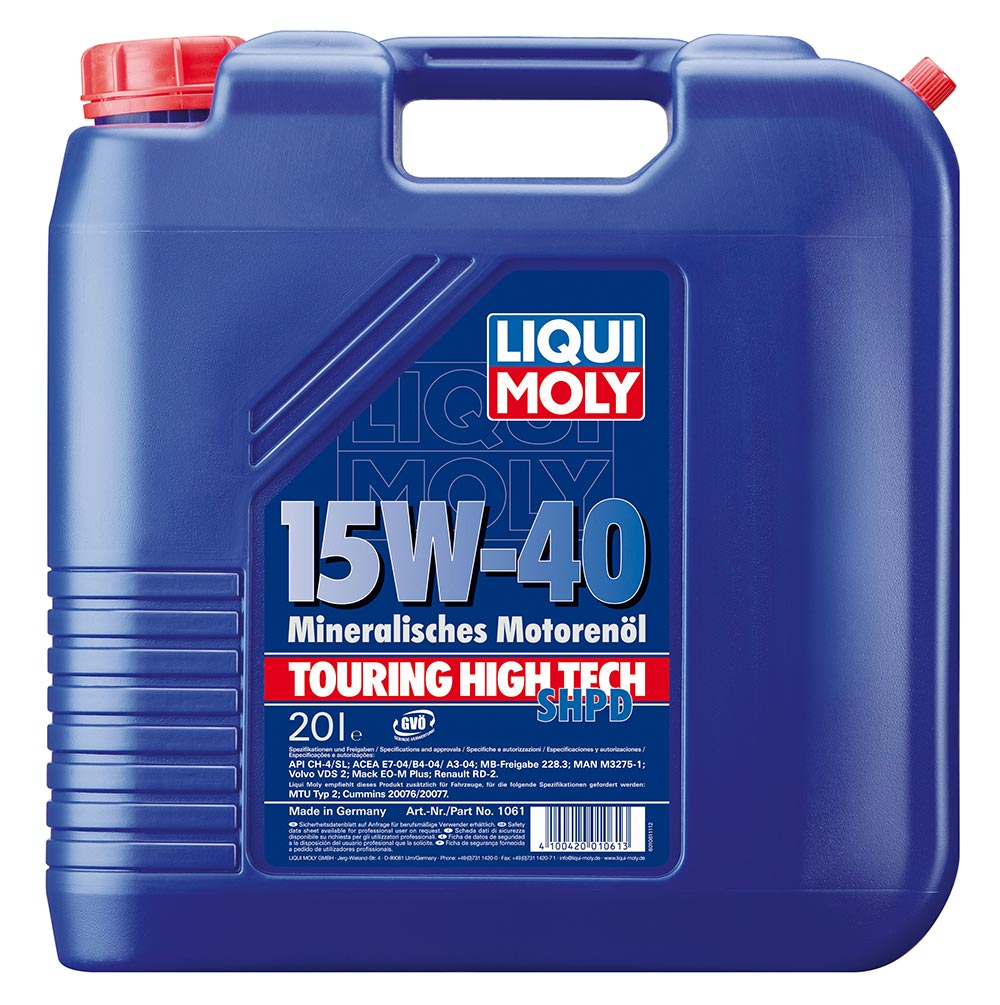 Моторное масло LIQUI MOLY Touring High Tech SHPD-Motoroil Basic SAE 15W-40 (20л)