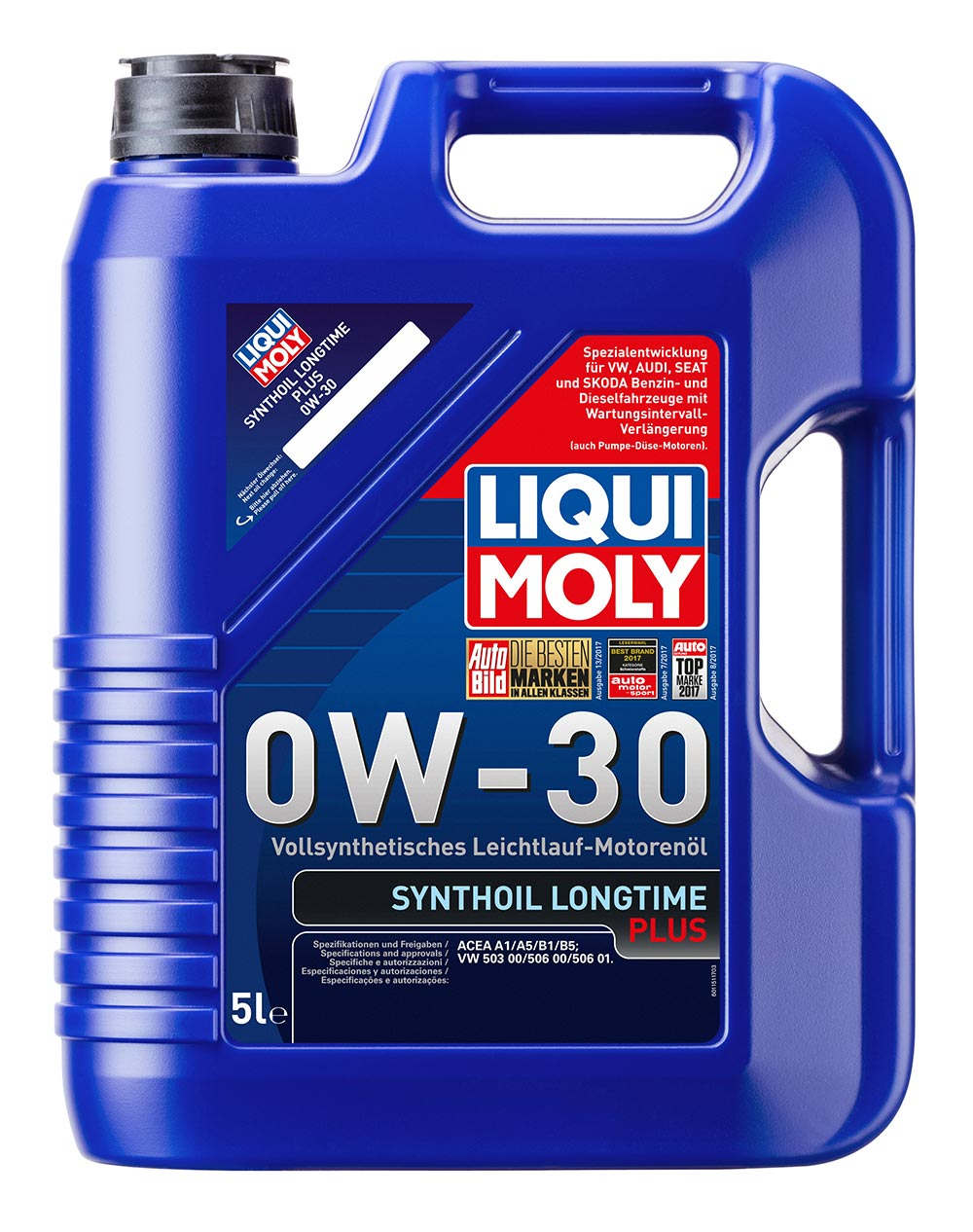 LiquiMoly 0W30 Synthoil Longtime Plus (5L) масло мотор  син ACEA A1 B1
