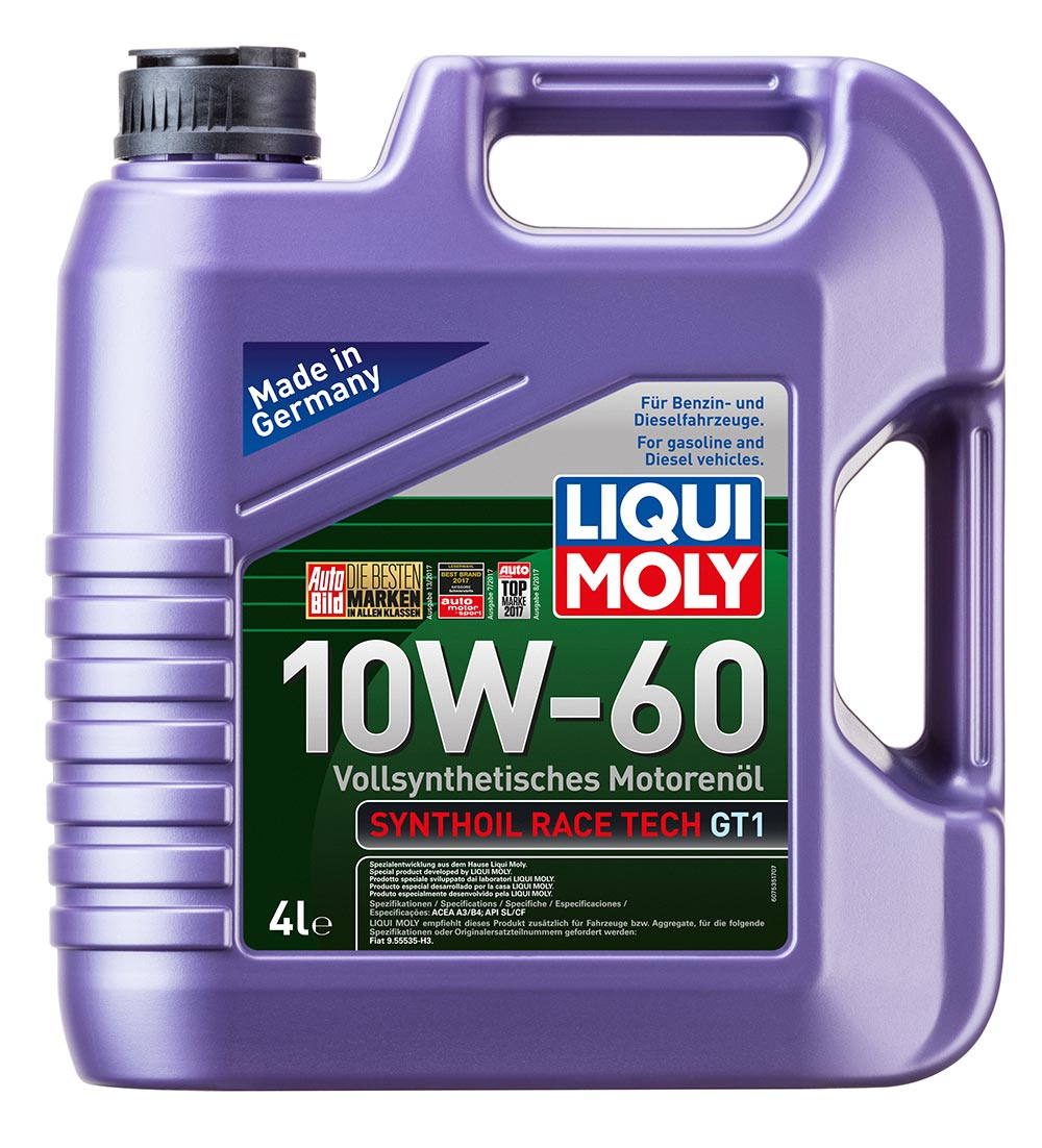 LiquiMoly 10W60 Synthoil Race Tech GT1 (4L) масло моторсинт API SL