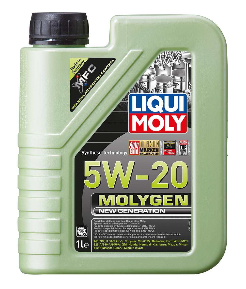 Масло моторное Molygen New Generation 5W-20  1L