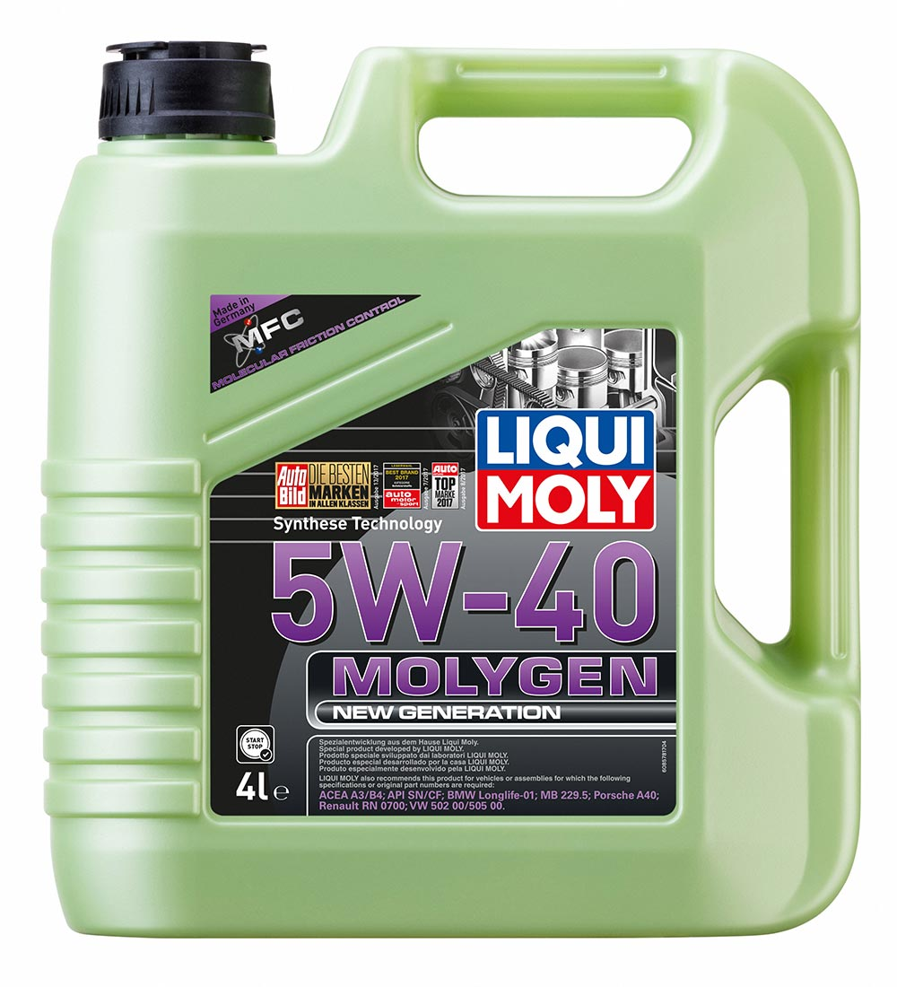 Масло моторное Molygen New Generation 5W-40. 4л