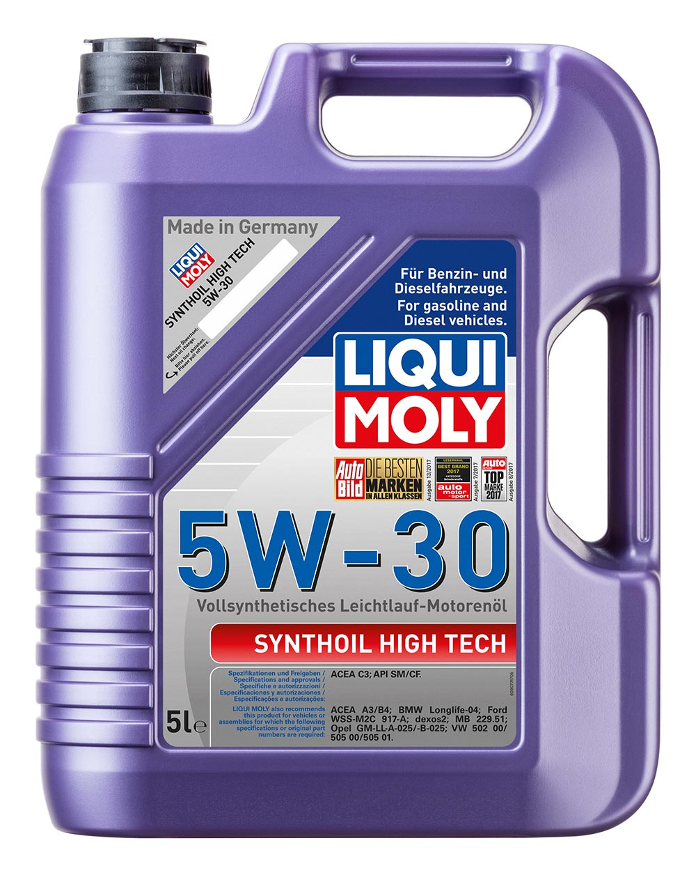 Синт.мот.масло Synthoil High Tech  5W-30 SM CF C3 (5л)   9077